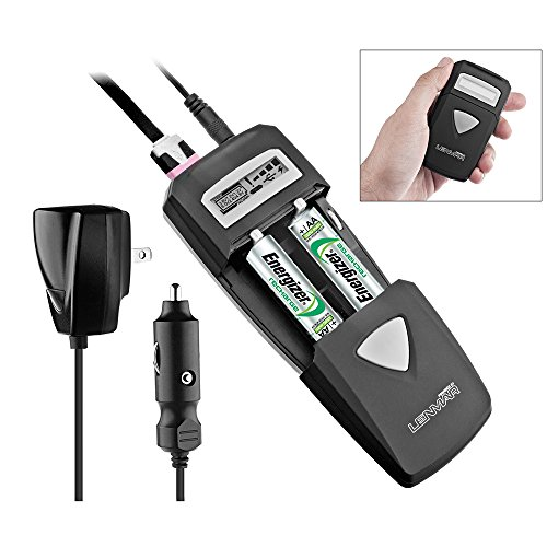 All-in-One AC/DC Battery Charger with LCD Display, Includes USB Port By (Lenmar Digital Cell Phone)