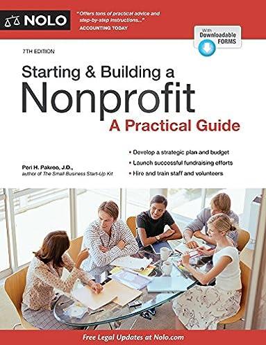starting building a nonprofit a practical guide peri pakroo j d rh amazon com Non-Profit Tax Exemption Form Tax Fun