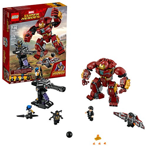 LEGO Marvel Super Heroes Avengers: Infinity War The Hulkbuster Smash-Up 76104 Building Kit features Proxima Midnight…