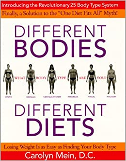 Different Bodies Diets Introducing The Revolutionary 25 Body Type System Carolyn Mein 9780060393908 Amazon Books