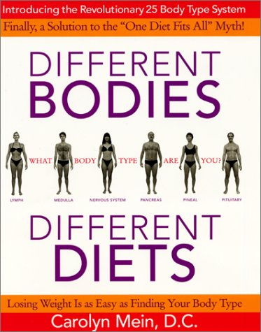 Different Bodies, Different Diets: Introducing the Revolutionary 25 Body Type System PDF
