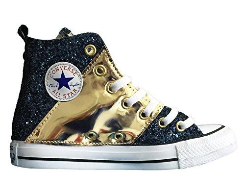 Con Edition Applicazione Oro Blu Tessuto Glitter All Converse Lamina Stripe Star Di E 7q1w4UEU