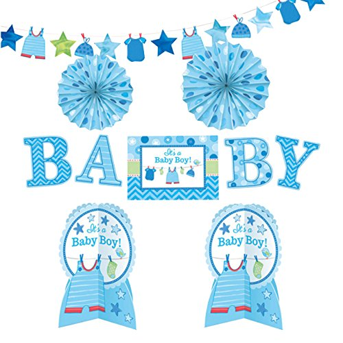 amscan It's a Baby Boy Room Decorating Kit