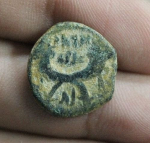 Ancient Judea Nabatean Bronze Coin (27 BC-476 AD) #3 - Roman Bronze Ring