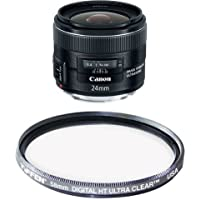 Canon EF 24mm f/2.8 IS USM Wide Angle Lens - Fixed Filter Bundle