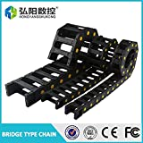 Ochoos Cable Drag Chain Wire Carrier 35 x 50mm 35 x 60mm 35 x 75mm 35100mm Drag Link with end connectors Plastic towline CNC Router 1M - (Specification: 35mm50mm)