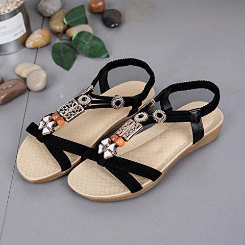 Chaussures 3CM Sport Talon Amuster élastiques de Plates Sandals Sandales 1CM Chaussures à Plein Chaussures Chaussures Comfort Bretelles Décontractées Femmes Bas Sandales air à Noir en Tq6TRUw