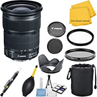 Canon EF 24-105mm f/3.5-5.6 IS STM (Model #9521B002, White Box Packaging) 33rd Street Lens Bundle for Canon EOS DSLR Cameras