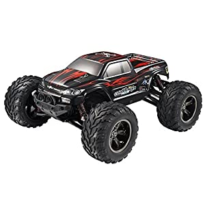Hosim High Speed RC Off-Road Car 9112, 38km/h 1/12 Scale Radio Controlled Electric All Terrain Car - 2.4Ghz 2WD Remote Control Monster Truck - Best Christmas Gift for Both Kids and Adults (Red)