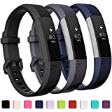 GEAK Replacement Bands for Fitbit Alta/Alta HR/Ace (3 Pack), Classic Replacement Bands with Secure Metal Buckle for Fitbit Alta HR/Fitbit Alta/Fitbit Ace, Women Men Kids