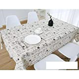 DW&HX Nordic Cotton Linen Table Cover Tablecloths Table Cloth Small Fresh Square Lattice Home Kitchen Easy Care Washable Tablecloth-G 130x180cm(51x71inch)