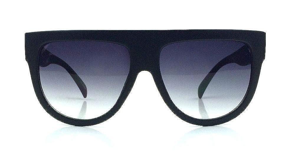 a58e584cc Amazon.com: Flat Top Square Aviator Gradient Frame Sunglasses Shadow Ombre  . (Black): Clothing
