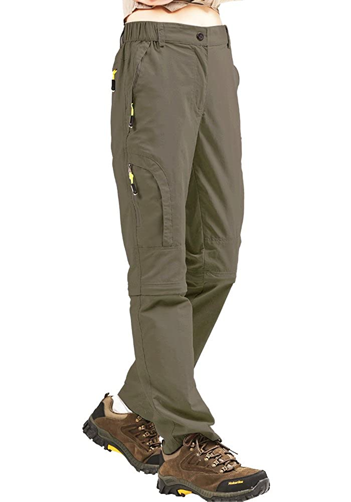 Womens Hiking Convertible Zip Off Outdoor Lightweight Quick Drying Travel Stretch Pants