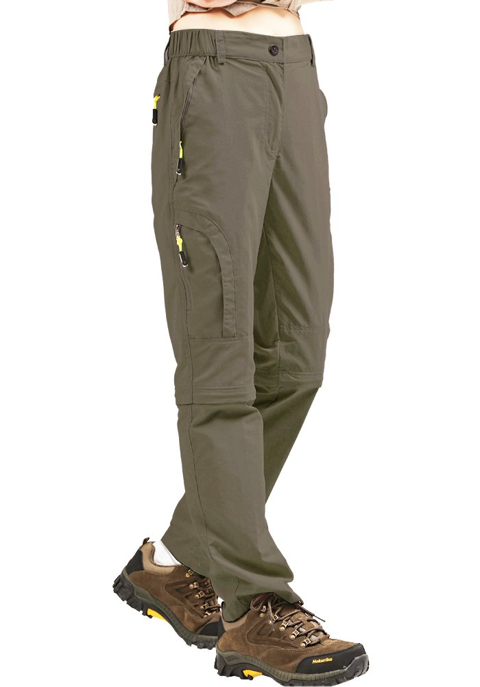 Women's Quick Dry Hiking Convertible Cargo Pants #4409-Khaki,M(31-32)
