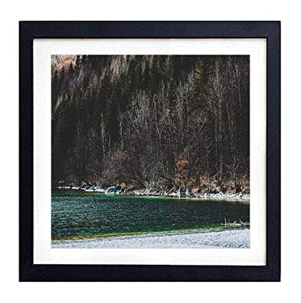 Amazon Com Glitzfas Prints Framed Wall Art Mountain Range