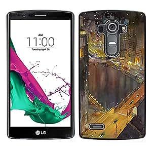 """Pulsar Snap-on Series Teléfono Carcasa Funda Case Caso para LG G4 , Hong Kong luces de la noche Edificios río"""""""