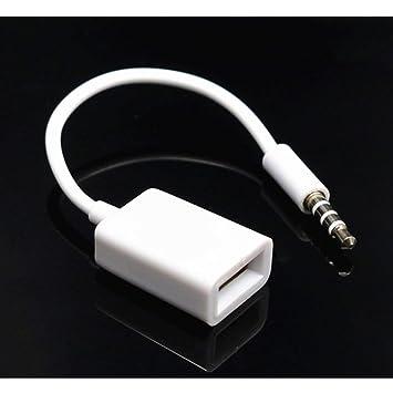 riche et magnifique sensation de confort grande sélection AUX vers USB 3.5mm mâle Prise Audio auxiliaire Prise vers ...