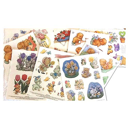 Vinyl Window Clings - Easter, Spring, Halloween – Bundle of 9 Pages - Includes 3 Pages of Vintage Ruth Morehead Designs for $<!--$14.97-->