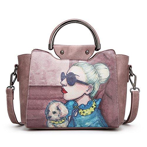 FangYOU1314 Large Bag Simple Bag Capacity Pink Light Atmosphere blue Messenger Hand Wild Color Shoulder rqnUwZrF