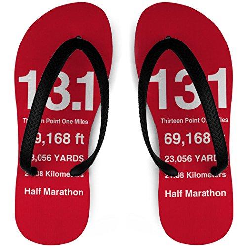 Rinnande Flip Flops 13,1 Matematiska Miles Röd