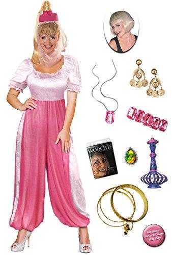 Sanctuarie Designs Jeannie The Genie Plus Size Halloween Costume Deluxe Wig Kit 4X - Genie Costume Makeup