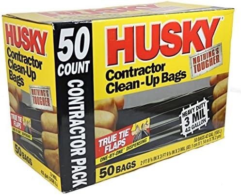 [해외]Husky 42 Gallon Contractor Clean-Up 3-Mil Trash Bags (50-Count) / Husky 42 Gallon Contractor Clean-Up 3-Mil Trash Bags (50-Count)