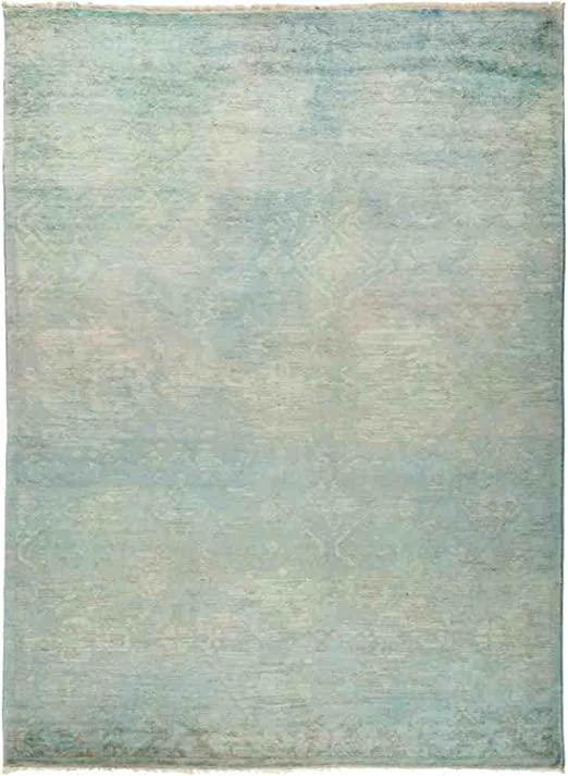Solo Rugs Vibrance Hand Knotted Area Rug 3 0 x 5 6 Dove