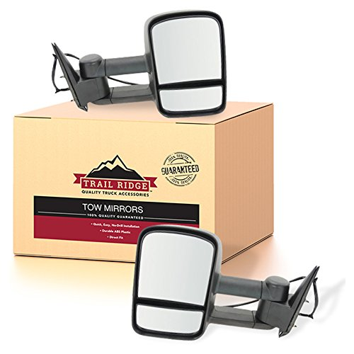 - Trail Ridge Tow Mirror Power Heated Textured Black Pair Set for Silverado Sierra
