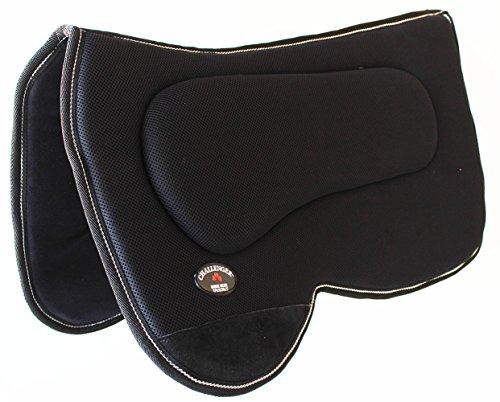 PRORIDER Western Horse Saddle PAD Western Saddle Pad with Antislip Memory Foam Black 3964