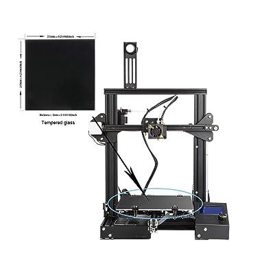 Ender 3 cama de cristal, plataforma de vidrio para impresora 3D ...