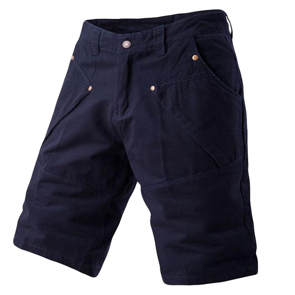 PASATO 2018 New Hot! Fashion Mens Casual Pocket Beach Work Casual Short Trouser, Classic Shorts Pants(Navy, 32)
