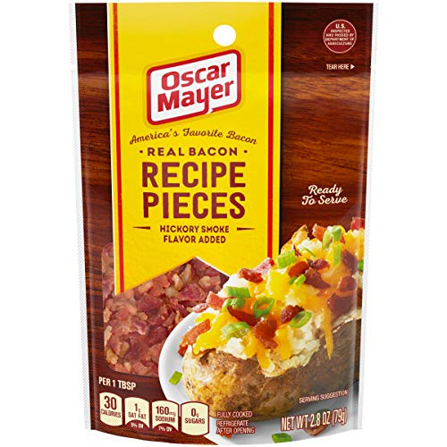- Oscar Mayer Real Hickory Smoke Bacon Recipe Pieces, 2.8 oz Pouch