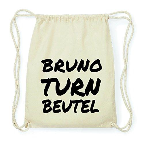 JOllify BRUNO Hipster Turnbeutel Tasche Rucksack aus Baumwolle - Farbe: natur Design: Turnbeutel 0ym89
