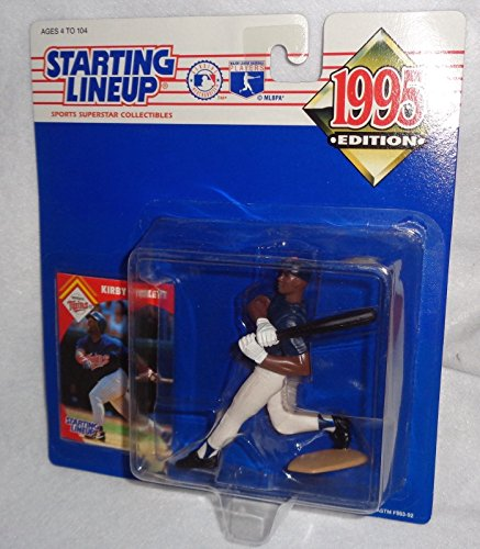 1995 - Kenner - Starting Lineup - MLB - Kirby Puckett #34 - Minnesota Twins - Vintage Action Figure - w/ Trading Card - Limited Edition - Collectible