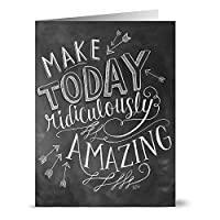 Note Card Cafe Inspirational Greeting Cards with Kraft Envelopes   36 Pack   Blank Inside, Glossy Finish   Chalkboard Ridiculously Amazing   Set for Greeting Cards, All Occasions, Birthdays