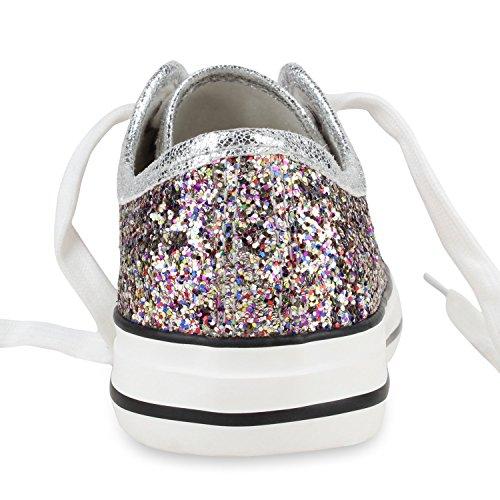Low Übergrößen Flandell Damen Mehrfarbig Sneaker Stiefelparadies Herren Unisex Wfx88qI