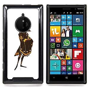 - White Raven God Bird Gold Shield/ Duro Snap en el tel????fono celular de la cubierta - Cao - For Nokia Lumia 830