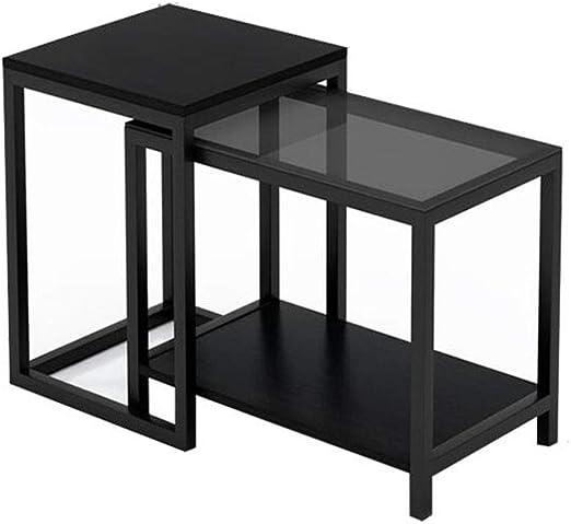 LHOME Salón Nido de mesas, Mesa de Centro pequeña y pequeña de ...