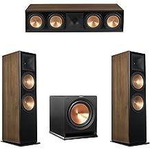Klipsch 3.1 Walnut System with 2 RF-7 III Floorstanding Speakers, 1 RC-64 III Center Speaker, 1 Klipsch R-112SW Subwoofer