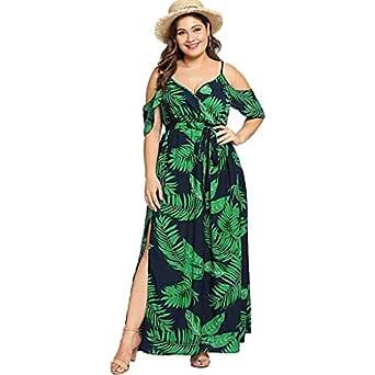 Vestido Largo Mujer Talla Grande Moda Top Falda para Fiesta Verano Vestidos Verano Mujer Tallas Grandes Bodas Faldas De Mujer De Fiesta Vestidos De ...