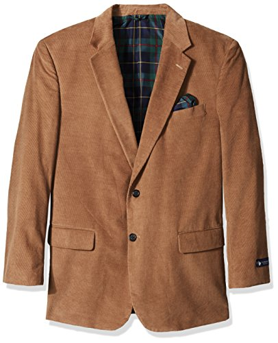 U.S. Polo Assn. Men's Portly Corduroy Sport Coat, Wheat, 48 Short Corduroy Mens Shorts