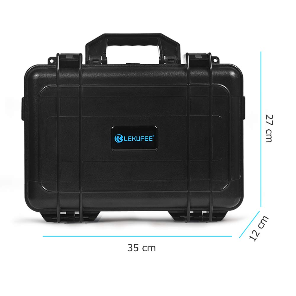 Lekufee Carrying Case Compatible for DJI Spark, Waterproof Hard Portable Case Holds 4 Batteries and DJI Spark Fly More Kits by Lekufee (Image #4)