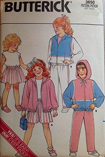 (Vintage Uncut Butterick sz 2-4 Jacket, Skirt, Pants Top Pattern 3650)