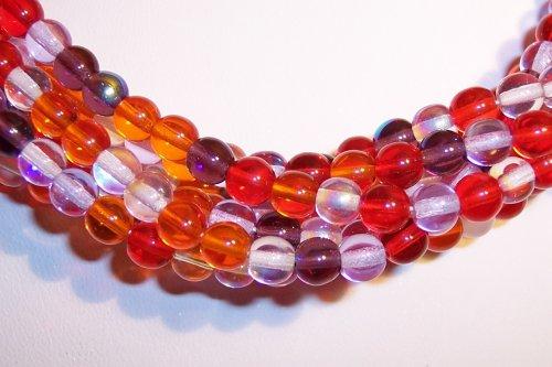 Melonberry MIX Czech 4mm Druk Beads Q.100