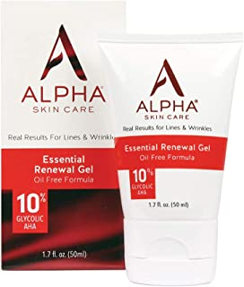 product image for Alpha Skin Care Essential Renewal Gel | Anti-Aging Formula | 10% Glycolic Alpha Hydroxy Acid (AHA) | Reduces the Appearance of Lines & Wrinkles | Oily & Breakout Prone Skin | 1.7 Oz