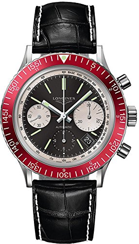 Longines Heritage Diver Black Dial Automatic Mens Chronograph Watch L2.808.4.52.0