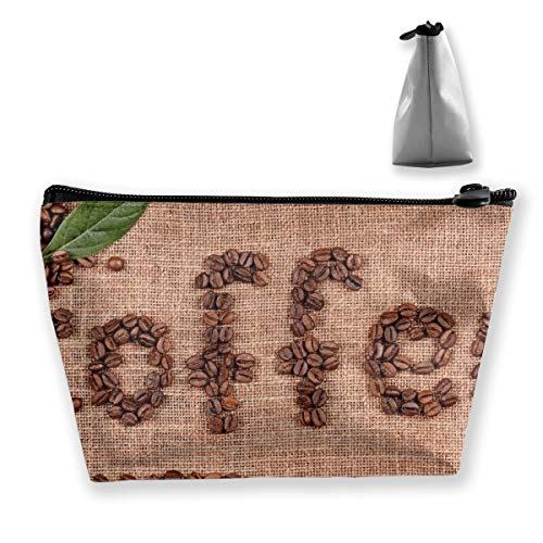 Chicory Apparel - Makeup Bag Cosmetic Creative Coffee Bean Design Portable Bag Mobile Trapezoidal Storage Bag Travel Bags With Zipper
