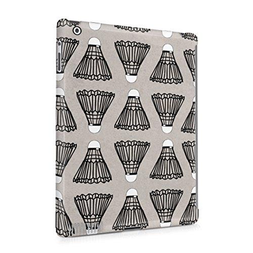 (Indoor Outdoor Badminton Shuttlecock Birdie Pattern Plastic Tablet Snap On Back Case Cover Shell For iPad 2 & iPad 3 & iPad 4)
