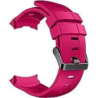 ZDL-ZNSB-001Watches Qw Voor Suunto Ambit3 Verticale Siliconen Horlogebanden, Breedte: 24 mm (zwart) ZDL-ZNSB-001Watches, Magenta