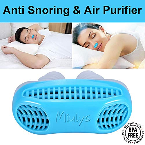 Anti Snoring Devices - Snore Stopper & Air Purifier Filter Stop Snoring Aids, Nasal Dilator Nose Vents Plugs for Easing Breathing and Comfortable Sleep (Light Blue)